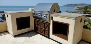 14' Granite Outdoor Kitchen